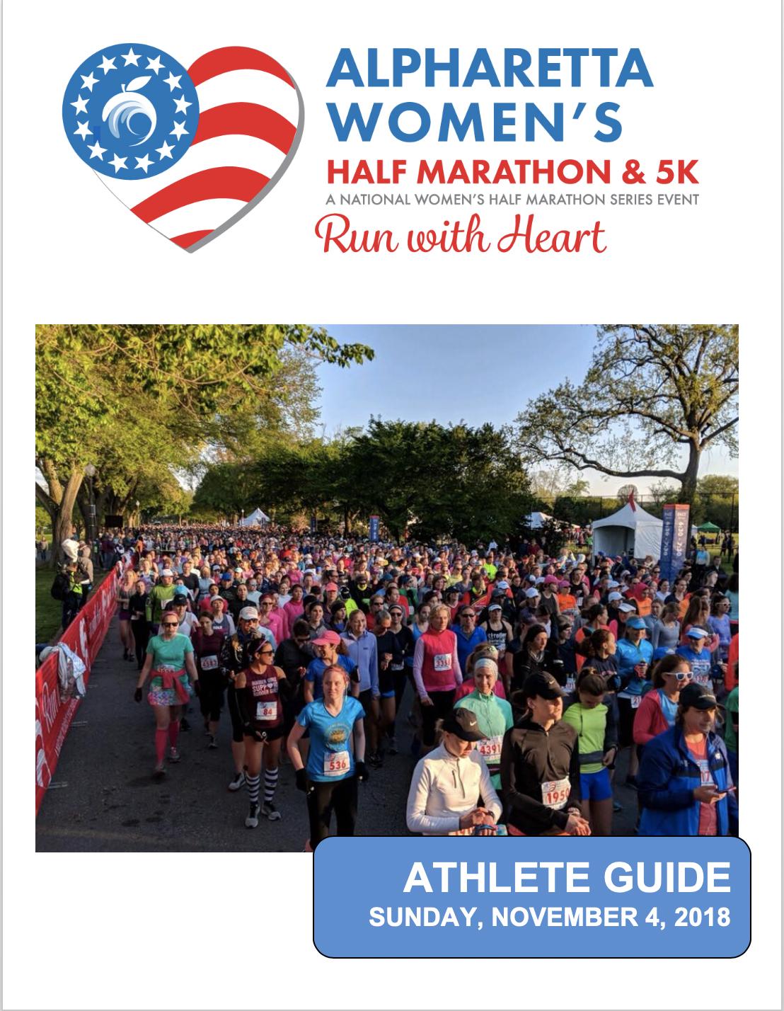 Alpharetta Women's Half Marathon and 5K Athlete Guide